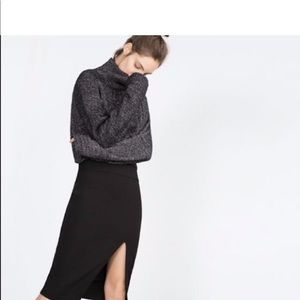 Zara Skirts - Zara Stretch pencil slit skirt with high slit